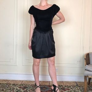 VINTAGE Velvet Cocktail Party Dress
